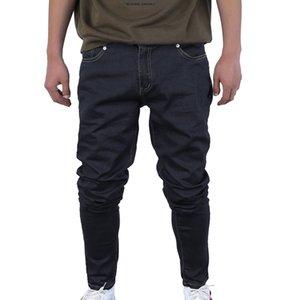 Fashion 2019 Jean Homme Streetwear Men Slim Jeans Pants Casual Hip Hop Men Straight Denim Pants Mens Solid Pencil Jeans Trouser