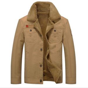 Plus Size 5XL Men's Winter Clothing 2018 New Men's Middle Age 100% Cotton Jacket Velvet Thick Warm Outwear Male Casual Coats