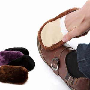 Shoeshine Cloth Plush Shoe Cleaning Cloth Faux Wool Polishing Gloves Leatherware Cleaner Leather Care