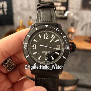 Version haute Nouveau Master Compressor Extreme Q2018470 2018470 Cadran Noir Automatique Montre Homme PVD Cuir Noir Acier Montres Hello_Watch