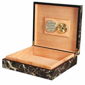 Caso de madeira portátil Cedar Caixa de armazenamento de madeira com Humidor humidificador hidratantes Acessórios Dispositivo