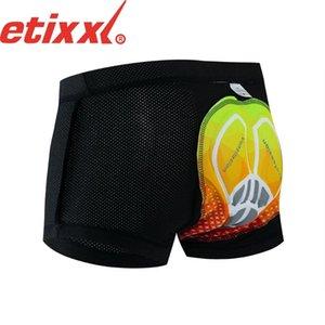 ETIXXL Erkekler Bisiklet İç Bisiklet Dağ MTB Şort Binme Bisiklet Spor İç Giyim Sıkıştırma Tayt Şort 16D 20D yastıklı