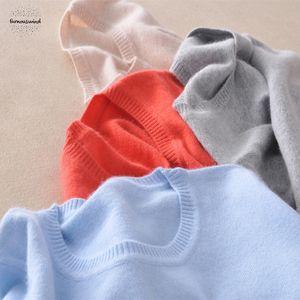 Кашемир 2019 шерстяной свитер Женщины Сплошной цвет Вязаная O шею свитер Женщина с длинным рукавом пуловер Перемычки Drop Доставка