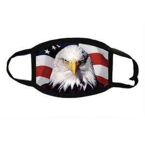 3D-Druck-Gesichtsmaske Flag Digital-Masken Trump Amerikaner Große Flagge Halt Ohr amerikanische Flagge patriotische USA Bald Eagle Designer Maske Hanging