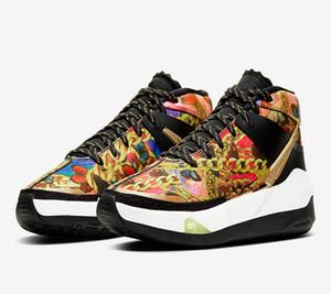 2020 KD 13 EP Hype Washed Chaussures Corail Laser Crimson de basket-ball avec la boîte Kevin Durant 13s Papillons et chaînes de sport Chaussures de sport Taille 7-12