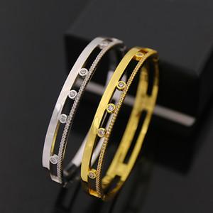 alta qualidade de ouro banhado a cobre pequena pedra CZ encaixe pulseiras pulseiras para mulheres homens recém-chegada venda quente moda de luxo jóias