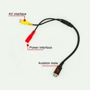 Video Cable Power Supply PVC Transmission DVD Extension Connect Monitor 35cm Waterproof 4Pin Trigger For Car Rearview Camera
