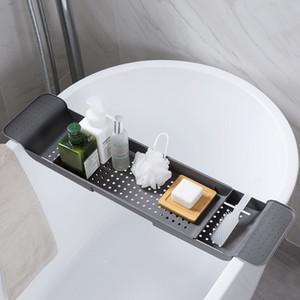 MeyJig Küvet Depolama Raf Banyo Tepsisi Raf Duş Küvet Banyo Araçları Makyaj Havlu Organizatör Plastik Mutfak Lavabo Drenaj Tutucu