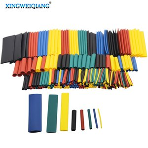 Tools 328pcs 1set Sleeving Wrap Wire Car Electrical Cable Tube kits Heat Shrink Tube Tubing Polyolefin 8 Sizes Mixed Color