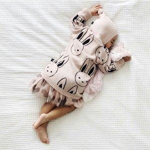 Kids Knitwear Cute rabbit bunn y Cardigan Sweater for 1-6yers Children Boys Girls Long Knit Cardigan Outerwear Clothing