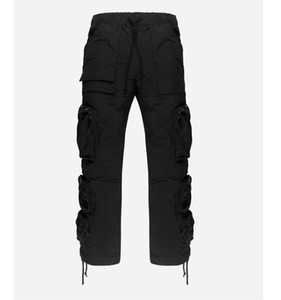 Funzione Mens Pants WHOISJACOV High Street nylon Tooling Cintola allentato Travis Scott Casual Fashion fitness High Street Long Pants