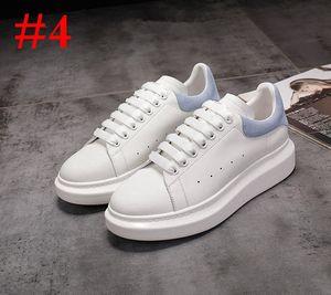Men Women Platform Casual Shoe Designer Shoe Fashion Luxury Women Shoes Men's Leather Lace Up Chaussures Oversized Sole Sneakers White Black