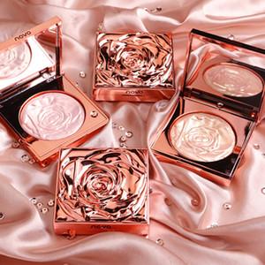 Novo Highlighter facial rosa paleta kit kit de rosto contorno shimmer pó base iluminador destaque de longa duração cosméticos