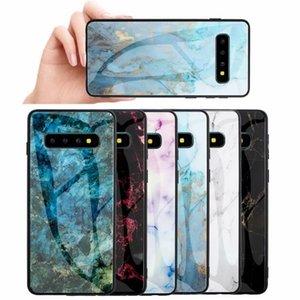 Mermer temperli cam Sert Kılıf Yumuşak TPU Yan Eğim Çift Hibrid bicolor Telefon Kapak için Iphone 11 Pro XS MAX XR X Samsung S10 Artı Hawei