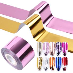 1 rouleau Shrimmer Holographic transfert feuille autocollant Nail Art coloré effet métal curseur Manucure Décor Decal Nail Wrap LA996-2