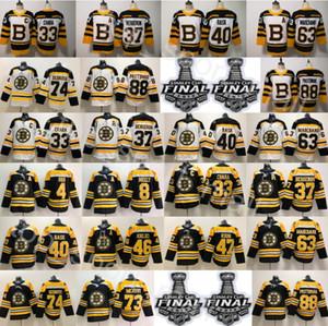 2019 Finali della Stanley Cup Boston Bruins Maglia Zdeno Chara McAvoy Hockey Cam Neely 88 David Pastrnak Tuukka Rask Torey Krug Bobby Orr Backes
