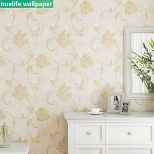 European style flower pattern study room dining room bedroom children's clothing store cafe shop TV background wall paper