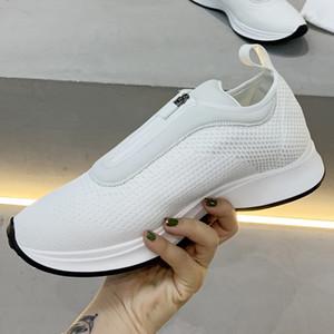Печатный холст и замши Мужские кроссовки Женская мода B24 B25 Косой Черный Белый Шитье верхней кроссовки