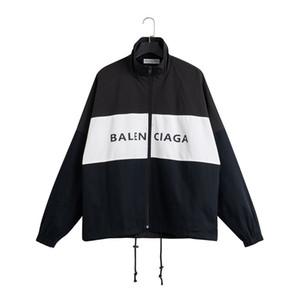 19SS jóvenes nuevos deportivos retro hombres chaquetas debe tener cuello alto contraste costura de gran tamaño hardware cremallera a prueba de viento outwear la tela Oxford
