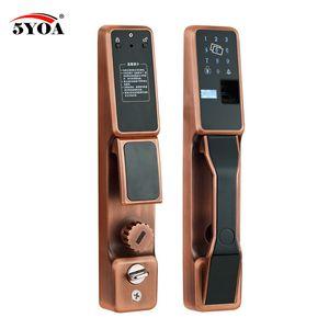 FPLock02 Fingerprint Lock Automatic RFID Electric Home Security Smart Electronic Door Identification Swipe Lock