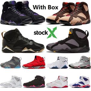Nike Air Max Retro Jordan Shoes Boyut 13 Bordo Hare Ray Allen Patta 7'ler Erkekler Basketbol Ayakkabı 7 A Şampiyonu Sneakers ile Box Of VII Tinker Alternatif Olimpiyat Yansımalar