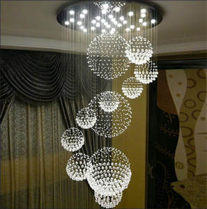 Chandelier Modern K9 Crystal Raindrop Chandelier Lighting Flush mount LED Ceiling Light Fixture Pendant Lamp for Dining Room Bedroom