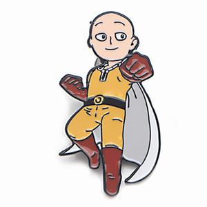 V277 Großhandels20pcs / lot Anime ONE PUNCH MAN Metall Emaille Broschen und Pins Sammlung Revers Pin-Rucksack-Abzeichen