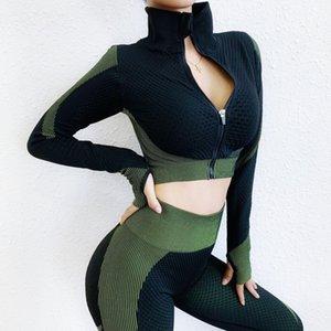 2020 Avrupa Amerikalı seksi spor yoga takım nem emme kamuflaj baskılı yoga giymek bayanlar spor takım elbise