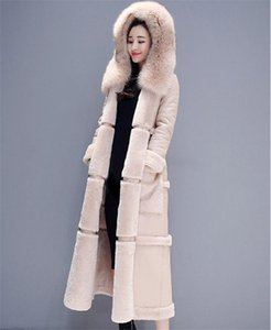 Cotton Clothing Female 2020 Fashion Winter Parka Korean Double-Faced Lamb Fur Coat Maxi Long Thick Winter Leather Jacket f2089