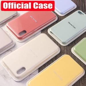 Für iphone 11 por max Flüssiges Silikon-Telefon-Kasten für iPhone 7 8 6S Plus-XR X XS Max Back Cover Soft Top-Qualität Luxus-Telefon-Kästen mit Kasten