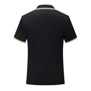 T-shirt de manga curta preta SD-cf-6 Men S e multa mulheres s camisa POLO fibra clássico poliéster listrado fibra colar de eucalipto