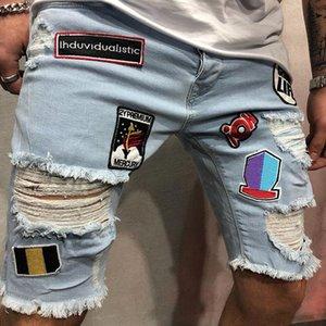 Été Nouvelle arrivée Mode Hommes Ripped Shorts rue Distressed Trou Denim Pantalon court pour les hommes Designer Casual Jeans Taille S-3XL