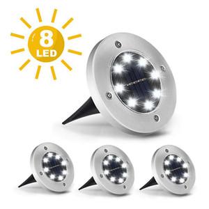 8 subterráneo de luz LED de energía solar Buried Planta de luz de lámpara a prueba de agua al aire libre Camino Camino del jardín del césped Yard iluminación exterior