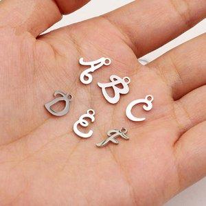 Из нержавеющей стали Начальные Charms 26 буквы английского алфавита Charm для женщин мужчин DIY Изготовление ювелирных изделий Аксессуары 10piece / Lot