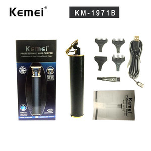 NEW Kemei 1971 1971B Pro Li T-Outliner Skeleton Heavy Hitter Cordless Trimmer Men 0mm Baldheaded Hair Clipper Finish Hair Cutting Machine