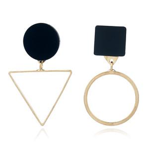 불규칙한 Geometrical Circle Triangle Earrings 패션 빅 스터드 Daily Party 액세서리 2 색 무료 배송
