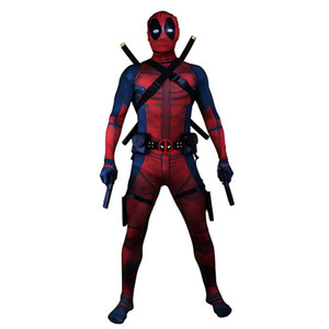 Deadpool man Adult Cosplay Costume 3D Print muscle high quality superhero costumes Movie Deadpool man Bodysuit