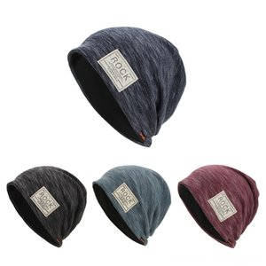 Printing Rock Women Men Warm Baggy Hats & Hats, Scarves & Gloves Weave Crochet Winter Wool Knit Ski Beanie Skull Caps Hat New Fashion Caps