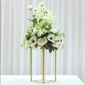 Düğün Dekor Çiçek Masa Centerpieces Yapay Çiçek Topu Centerpieces Yaprak Backdrop Yol Tablo Çiçek topu Kurşun