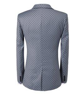 Suit Mens Wave Point 3 Pieces Men Dress Suits Casual Commuter Office Business Suits For Wedding(Blazer+Vest+Pants)