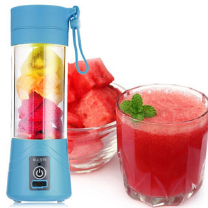 380 ml 4/6 lames mini USB rechargeable portable électrique fruits Juicer Smoothie Maker Blender Machine Sports bouteille Juicing tasse