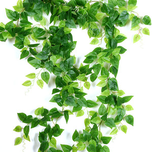 8 스타일 1pc 인공 장식 생생한 포도 나무 등나무 잎 Vagina 잔디 식물 홈 가든 파티 장식에 대 한 나뭇잎