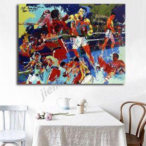 Рокки против Аполлона Лерой Нейман бокс холст Живопись масло печать плакат стены искусства картина для гостиной украшения дома плакат