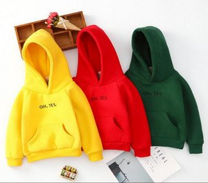 New style boys and girls' thickened sweater baby autumn and winter top baby Hoodie children's Hoodie one hair manufacturer's size 100-150cm