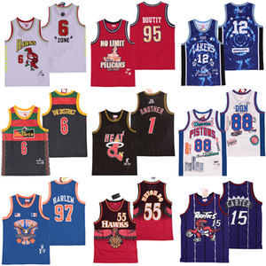 NCAA 88 Don Georgetown 12 TDE Bullets the District No Limit 95 Butt 55 Mutombo 15 Carter another 1 Mcgrady 97 Harlem Basketball Jerseys