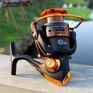 Yumoshi غزل الصيد بكرة 12BB + 1 كرات تحمل 500-9000 سلسلة معدنية لفائف غزل الصيد بكرة قارب سي روك معالجة AX / BX