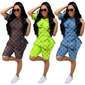 Kadınlar tasarımcı spor atış kollu gömlek şort eşofman hoodie tayt 2 parça set bodycon kıyafetler kadın giyim sıcak klw1983
