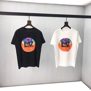 manga curta 2020 verão nova marca de moda masculina Hong Kong Estilo roupas da moda meia manga solta t-shirt wear1282 dos homens