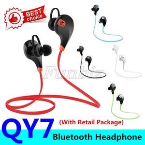 ستيريو سماعات بلوتوث اللاسلكية QY7 حركة الرياضة الموسيقى يدوي سماعات الأذن مع ميكروفون تشغيل سماعات لجميع الهواتف الذكية