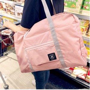 حقائب سعة كبيرة قابلة للطي السفر حقيبة التخزين الكتف دائم حقائب اليد للطي الملابس التخزين التسوق حقيبة حمل الحقيبة DBC DH1045
